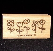 Flowers w/Stems Single Stamp in a flower bed in a row Stampin Up Smorgasborders