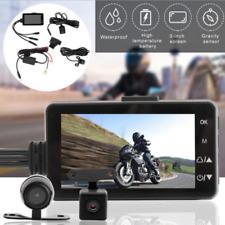 Motorcycle Bike Camera DVR Motor Dash Cam w/ Dual-track Front Rear Recorder IP68