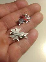 Lot of 2 Lapel Pins Tie Tacks Pin Backs Men's & Women's Accessories Used