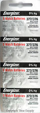 20 pc 377 / 376 Energizer Watch Batteries SR626SW SR626 0% HG