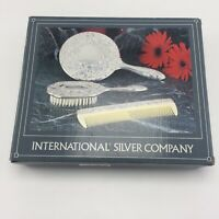 International Silver Company Mirror Brush Comb Set 3 Pieces New No 99117931
