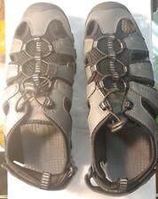Eddie Bauer  Leather Grey Fisherman Bump Toe Sandals Men Size 9