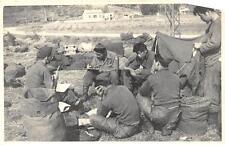 RPPC KOREA ASIA MILITARY SOLDIERS REAL PHOTO POSTCARD (c. 1950s)