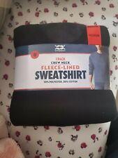 """Bridgeport Fleece-Lined Crewneck Sweatshirt, Medium (38""""-40""""), Black, New"""