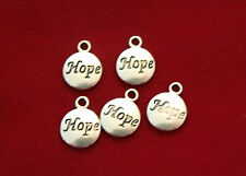 """10pc """"Hope"""" charms in antique silver (BC749)"""