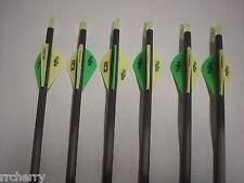 6 Gold Tip XT Hunter 400 Carbon Arrows w/ Bohning Blazer Vanes! WILL CUT!!!