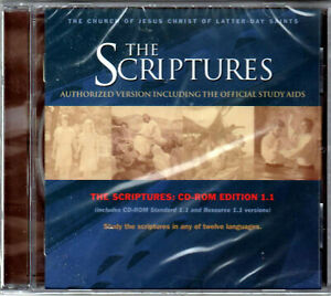 THE SCRIPTURES a AUTHORIZED Version OFFICIAL STUDY AIDS CD-ROM Christian MORMON!