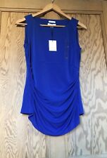CALVIN KLEIN Blue 'Invisible Fit Solutions' Ruched Top Size M New With Tags