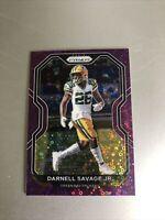 2020 Prizm Darnell Savage Jr No Huddle Purple Prizm #'d 34/35 Packers SHARP CARD