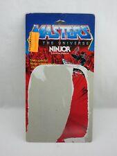 MOTU,Vintage,NINJOR CARD BACK,Masters of the Universe,Original,He Man
