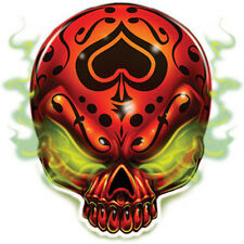 """Best Of Skulls"" Temporary Tattoo, Spade Skull Emanating Gas, Made in USA"