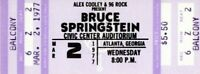 BRUCE SPRINGSTEEN 1977 LAWSUIT DRAGS ON TOUR UNUSED CONCERT TICKET-ATLANTA