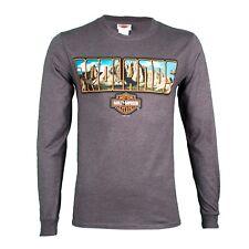 Harley Davidson Bar and Shield Gray long sleeve Henley Shirt Nwt Men/'s medium