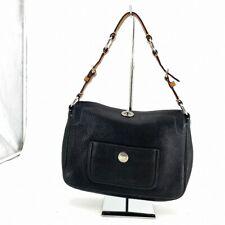 Coach Handbag Leather Black Tote #DP223-52