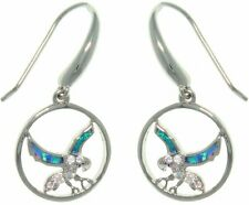 Jewelry Trends Sterling Silver Created Opal and CZ South Western Eagle In Flight