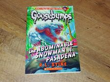 Goosebumps: The Abominable Snowman of Pasadena No. 38 by R. L. Stine