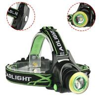 8000LM XM-L X-XML T6 COB ZOOM LED Adjustable Headlight Headlamp Head Light GA