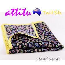 Twill Silk Men Pocket Square Handkerchief ATTITU Xavier Series Valentines Gift