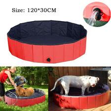 Large Dog Puppy Pool Pet Bath Swimming Pool Foldable Paddling Bathing 120*30CM