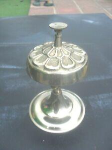Vintage Brass Shop Counter / Hotel Reception Service Bell gwo
