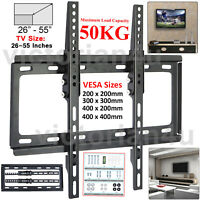 "26 - 55"" INCHES SLIM TILT ADJUSTABLE WALL MOUNT TV BRACKET FOR 3D LCD LED PLASMA"