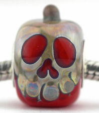 Halloween Poison Apple glass european charm bead Mandy Ramsdell silver lampwork