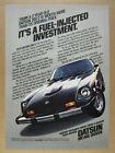 1978 Datsun 280-Z 280Z black car color photo vintage print Ad