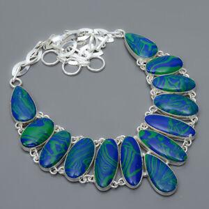 "Azurite Malachite 925 Sterling Silver Jewelry Handmade Necklace 17.99"" N1677-5"