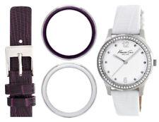 Kenneth Cole reloj de mujer set Kc6058 Analógico cuero Marrón blanco