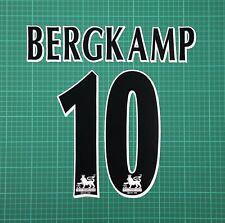 BERGKAMP #10 1997-2006 Player Size Premier League Black Nameset Arsenal
