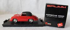 Brumm 1/43rd Scale Porsche 356C Spyder CHIUSA, 1963-65, Red w/Black Top