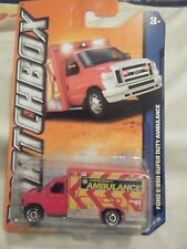 Matchbox MBX City 2009 Ford E-350 Super Duty Ambulance - red