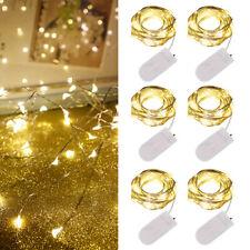 LED Battery Micro Fairy String light Christmas Garland Wedding Party Room Decor