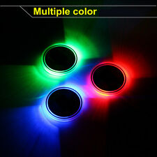 Universal Pair Switchable 7 Color LED Car Cup Holder Bottom Pad Atmosphere Light