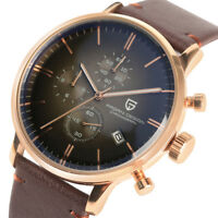 Luxury PAGANI DESIGN Men's Quartz Wrist Watch Waterproof 316L Case Leather Strap