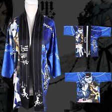 Anime Black Butler Kuroshitsuji Ciel Cloak Kimono Bathrobe Coat Cosplay Costume