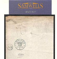 MS1807 1850 GB papel estampado de ingresos no utilizados * Chester * en relieve 5s deber general