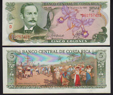 Costa Rica 5 Colones 1992 P236e Mint Unc
