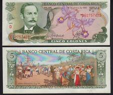 Costa Rica 5 colones 1992 P236e Mint Unc