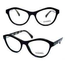 83db65ba01 CHANEL 3291 c.501 Black Transparent Lace 54 17 140 Eyeglasses Made Italy