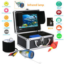 "7"" inch TFT LCD 30m Fish Finder DVR Underwater Video 1000TVL HD Camera Monitor"