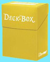 Ultra Pro DECK BOX YELLOW Card Holder NEW case protector mtg pokemon magic