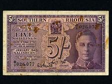 Southern Rhodesia:P-8a,5 Sh.,1943 * King George VI *