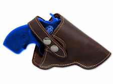 """NEW Barsony Brown Leather OWB Gun Holster for Charter Arms 22 38 357 Snub 2"""" Rev"""