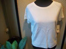 JOHN PAUL RICHARD Ladies Sz L NWT Essential White Summer Shirt Top Free Ship