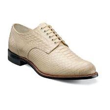 Stacy Adams Men's Shoe Madison Anaconda Print Leather Ivory Biscuit 00055-101