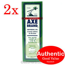 2X Singapore Axe Brand Universal Medicated Oil-56ML for Aches & Pain (New!)