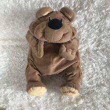 FISHER PRICE Tan Brown Rumple Bear Plush Soft Happy Toy Stuffed Animal 1993 RARE
