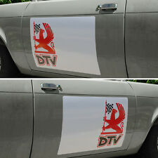 DTV Castrol Dealer Team Vauxhall Chevette HS Firenza Magnum Door Square Decals .
