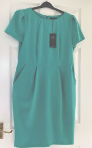 M&S Dress Size 14 Eu 42 Green Bnwt